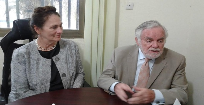 Right to left is Dr. P. Vincent Hegarty, Founding Director and Professor Emeritus Institute for food laws and regulations, Michigan State University and Christine L. Blackledge, AgraAfrica Entrepreneurial Consulting U.S.A.