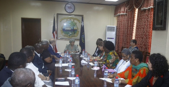 President Sirleaf Holds Major Consultations with Educational Sector Stakeholders