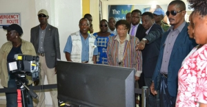 President Sirleaf Inspects New Temperature Electronic Scanners Installed at RIA; Expresses Confidence that the reemergence of a New Ebola Case Will Be Put Under Control