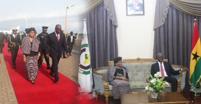President Sirleaf in Accra for the 47th Session of ECOWAS Authority of Heads of State and Government