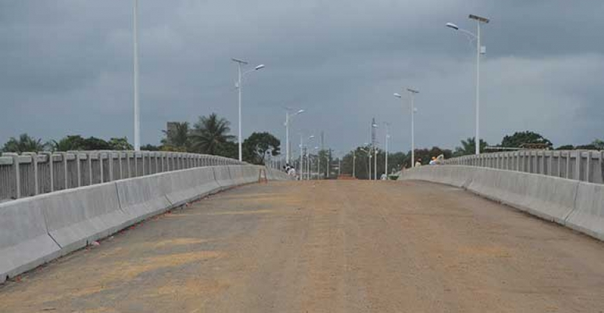 Newly constructed Caldwell Bridge