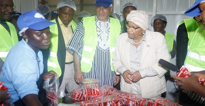 President Sirleaf Visits Two Manufacturing Companies, Extols Them for Creating Jobs for Liberians