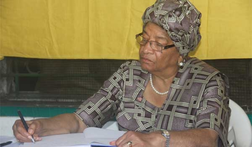 President Sirleaf Consoles Germany