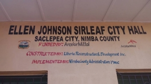 Pres. Sirleaf Dedicates Saclepae City Hall; Lauds Citizens For Peace